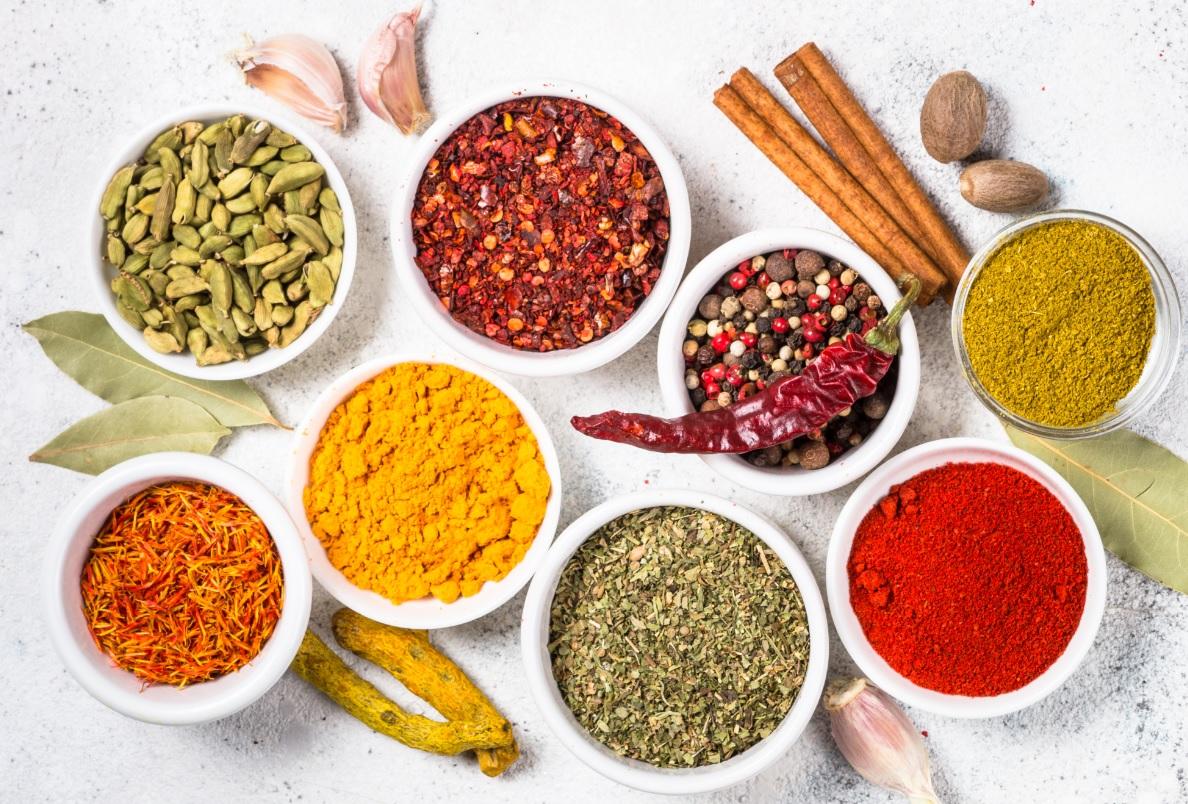 Spezie della tradizione culinaria indiana